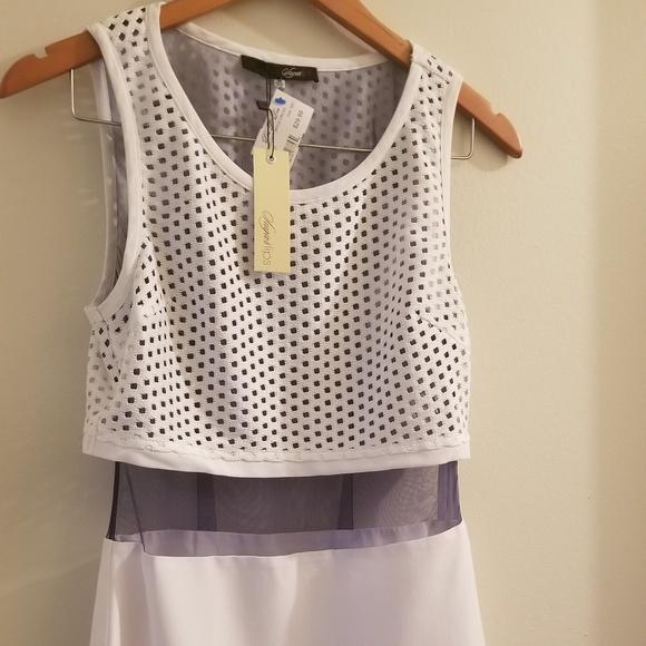 Sugarlips Dresses & Skirts - SugarLips White dress with navy mesh